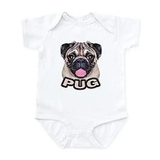 Pug - Color Infant Bodysuit