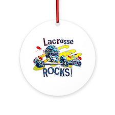 Lacrosse Rocks Ornament (Round)
