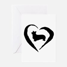 Pembroke Heart Greeting Cards (Pk of 10)
