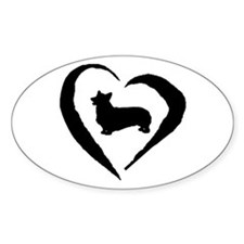 Pembroke Heart Oval Decal