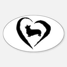 Pembroke Heart Oval Decal