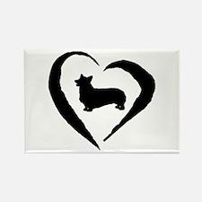 Pembroke Heart Rectangle Magnet (10 pack)