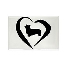 Pembroke Heart Rectangle Magnet