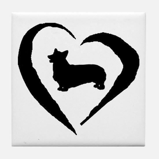 Pembroke Heart Tile Coaster