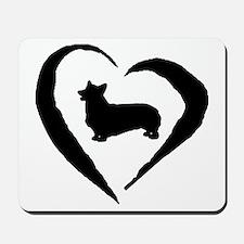 Pembroke Heart Mousepad