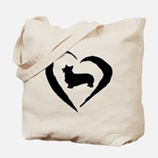 Pembroke Heart Tote Bag