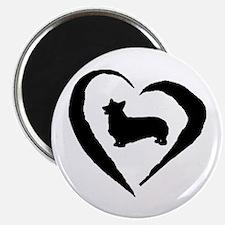 Pembroke Heart Magnet
