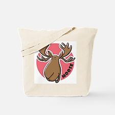 Cartoon Moose Pink Tote Bag