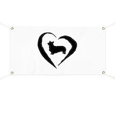 Pembroke Heart Banner