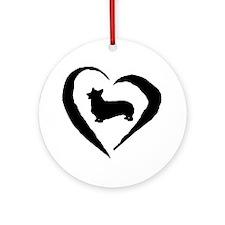 Pembroke Heart Ornament (Round)