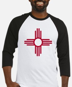 Red Zia NM State Flag Design Baseball Jersey