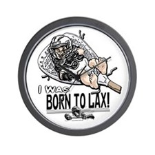 Born to LaX Lacrosse Wall Clock