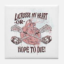 Born to LaX Lacrosse Tile Coaster