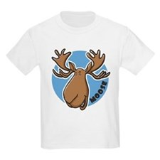 Cartoon Moose Blue Kids T-Shirt