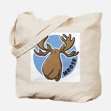Cartoon Moose Blue Tote Bag