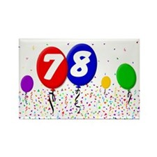78th Birthday Rectangle Magnet