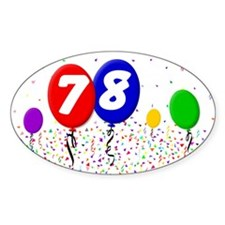 78th Birthday Oval Decal