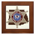 Copiah County Sheriff Framed Tile