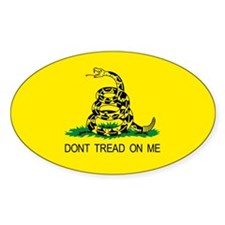 Tea Party Gadsden flag! Patriotic Oval Decal