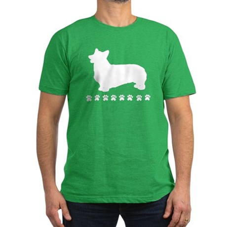 Pembroke Paws Men's Fitted T-Shirt (dark)