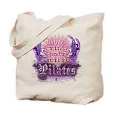 Body Mind Spirit Pilates Tote Bag