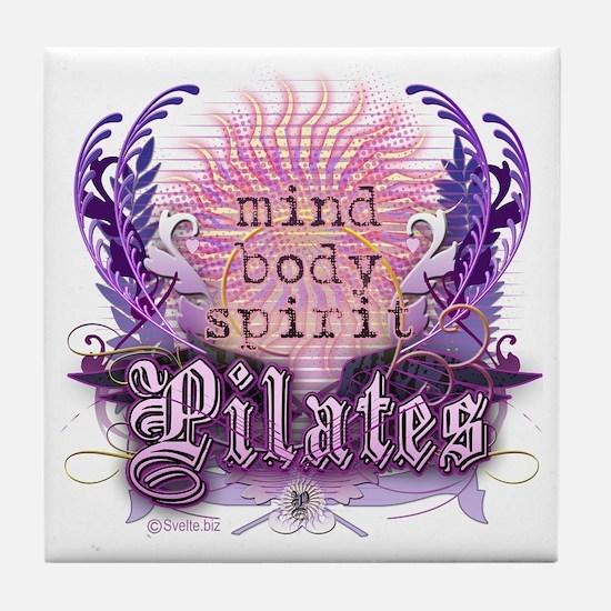Body Mind Spirit Pilates Tile Coaster