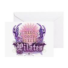 Body Mind Spirit Pilates Greeting Card