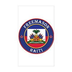 Haiti Masons Rectangle Decal