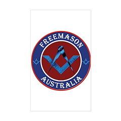 Australian Masons Rectangle Decal