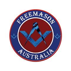 "Australian Masons 3.5"" Button"
