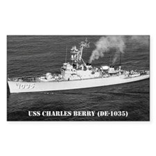 USS CHARLES BERRY Rectangle Decal