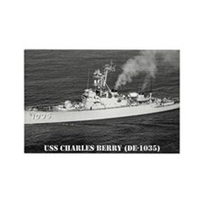 USS CHARLES BERRY Rectangle Magnet