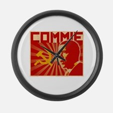 Obama Commie (aged effect) Large Wall Clock