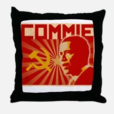 Obama Commie (aged effect) Throw Pillow