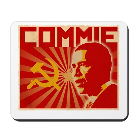 Obama Commie (aged effect) Mousepad