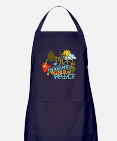 Imagine Peace Abtract Art Apron (dark)