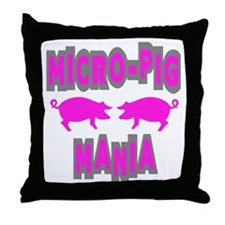 Micro-Pig Mania Throw Pillow