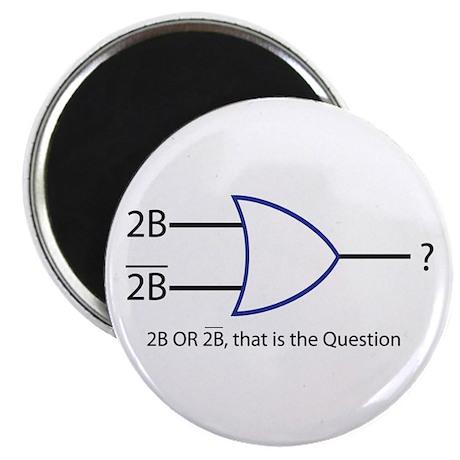 2BORNOT2B_big text Magnets