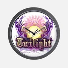 Twilight New Moon Violet Intrigue Wall Clock