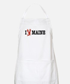 I Love Maine BBQ Apron