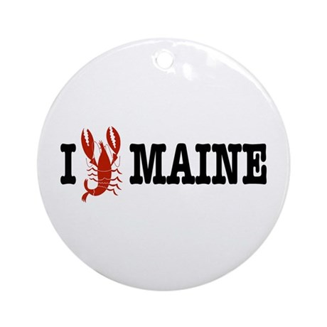 I Love Maine Ornament (Round)