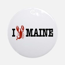 I Love Maine Ornament (Round)