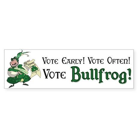 Bullfrog Bumper Sticker