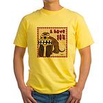 Valentine Dog Yellow T-Shirt