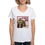 Valentine Dog Women's V-Neck T-Shirt