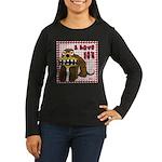 Valentine Dog Women's Long Sleeve Dark T-Shirt