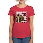Valentine Dog Women's Dark T-Shirt