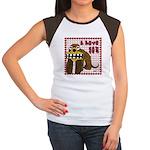 Valentine Dog Women's Cap Sleeve T-Shirt