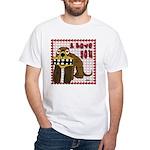 Valentine Dog White T-Shirt