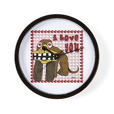 Valentine Dog Wall Clock